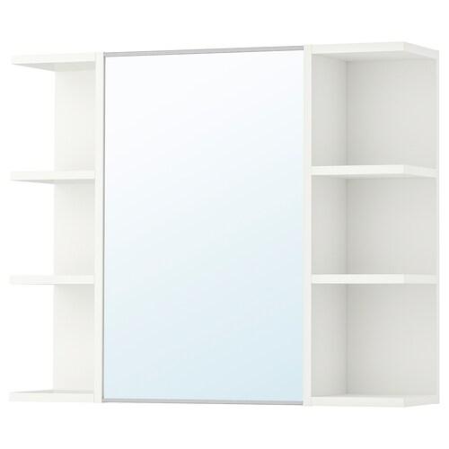 LILLÅNGEN mirror cabinet 1 door/2 end units white 78 cm 21 cm 64 cm