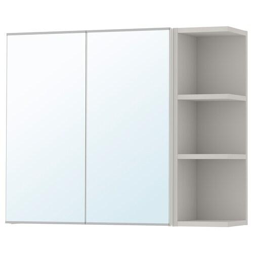 LILLÅNGEN mirror cabinet 2 doors/1 end unit white/grey 79 cm 21 cm 64 cm