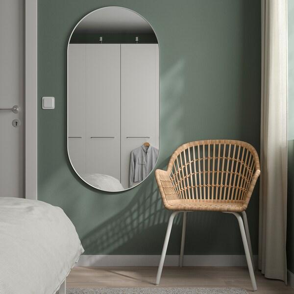 LINDBYN Mirror, white, 60x120 cm