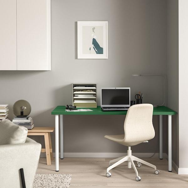 LINNMON / ADILS table green/white 150 cm 75 cm 74 cm 50 kg
