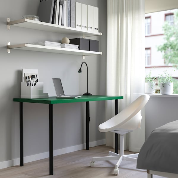LINNMON / ADILS table green/black 120 cm 60 cm 74 cm