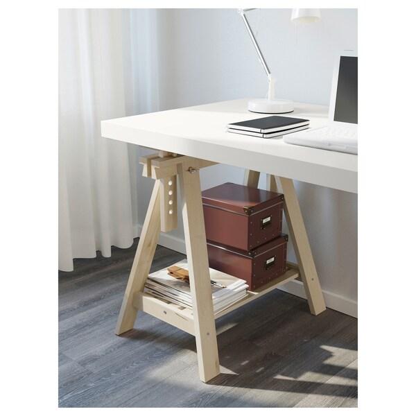 LINNMON / FINNVARD table white/birch 150 cm 75 cm 50 kg