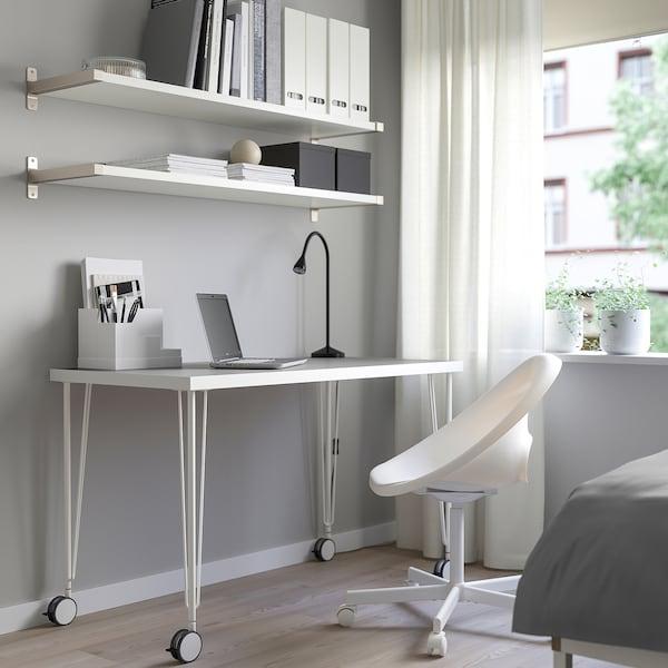 LINNMON / KRILLE table light grey/white 120 cm 60 cm 74 cm 50 kg