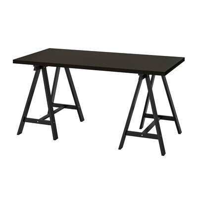 LINNMON / ODDVALD table black-brown/black 150 cm 75 cm 74 cm 50 kg