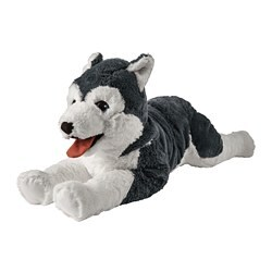 LIVLIG soft toy, dog husky, siberian husky