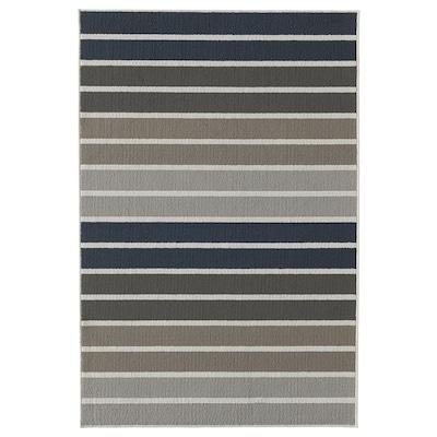 LUMSÅS Rug, low pile, grey/multicolour, 120x180 cm