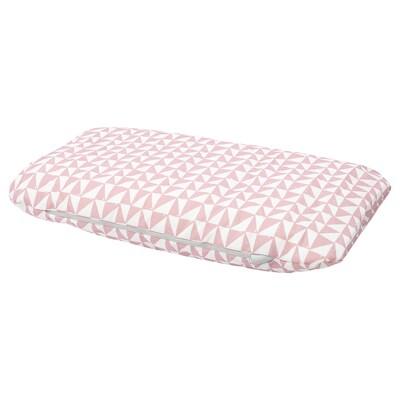 LURVIG Cushion, pink/triangle, 46x74 cm