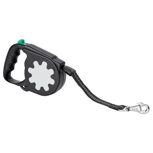 LURVIG extendable leash black 5.0 m 25 kg