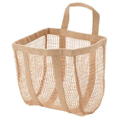 LUSTIGKURRE Basket, natural jute, 25x20x33 cm