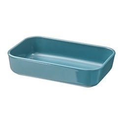 LYCKAD oven/serving dish, blue
