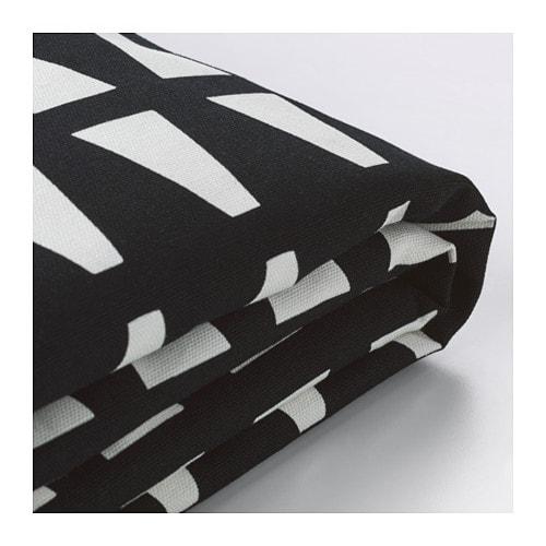Admirable Lycksele Chair Bed Cover Ebbarp Black White Creativecarmelina Interior Chair Design Creativecarmelinacom
