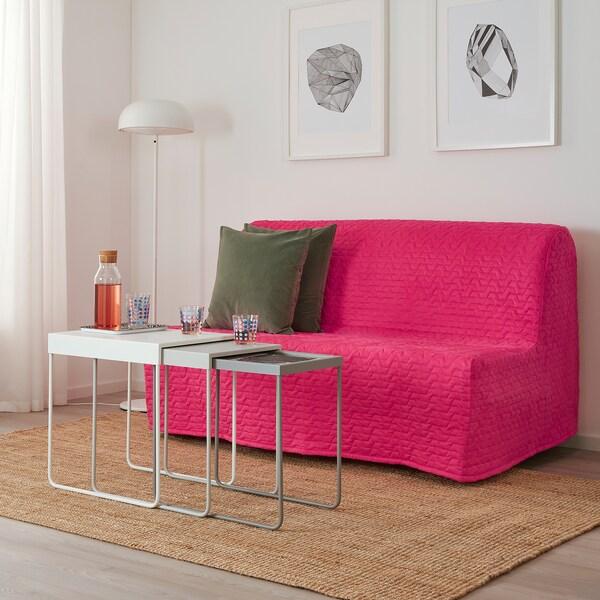 LYCKSELE HÅVET Two-seat sofa-bed, Vallarum cerise