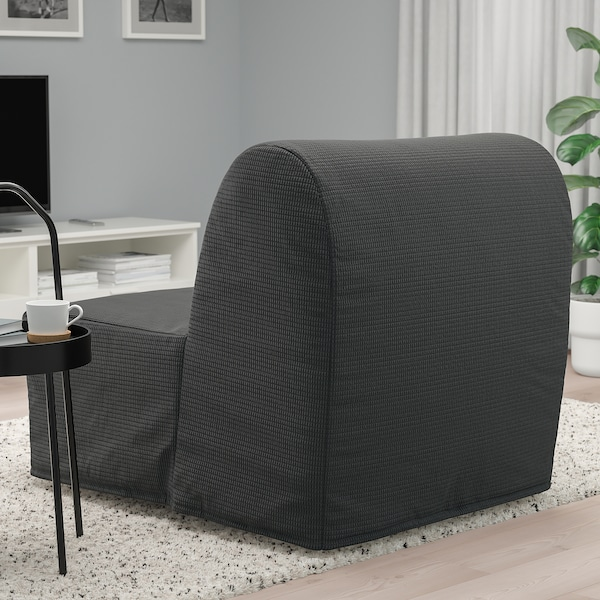 LYCKSELE LÖVÅS Chair-bed, Vansbro dark grey