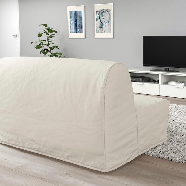 LYCKSELE MURBO 2-seat sofa-bed, Ransta natural