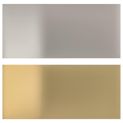 LYSEKIL wall panel double sided brass-colour/stainless steel colour 119.6 cm 55 cm 0.2 cm