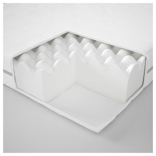 MALFORS Foam mattress, medium firm/white, 90x200 cm