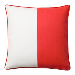 MALINMARIA cushion cover, red, white