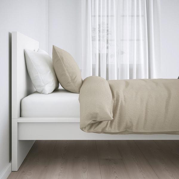 MALM Bed frame, high, white/Lönset, 120x200 cm