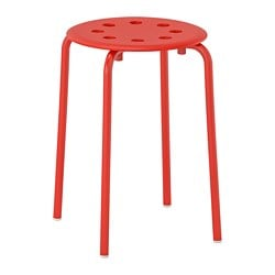 MARIUS stool, red
