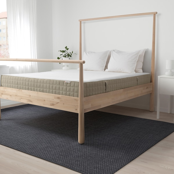 MAUSUND Natural latex mattress, medium firm natural, 90x200 cm
