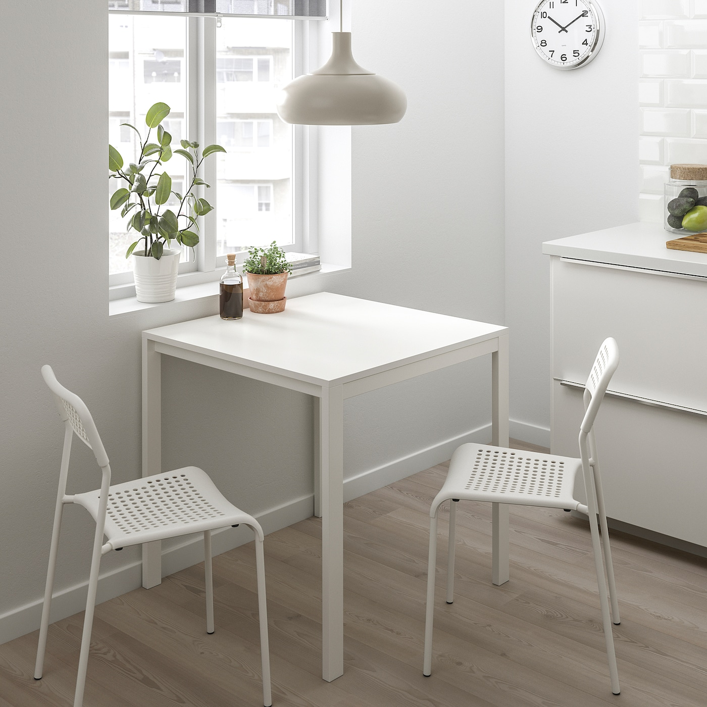 Picture of: Furniture Ikea Melltorp Dining Table White Steel Legs Moisture Stain Resistant 75×75 Cm Home Furniture Diy Ot Baieducotentin Fr