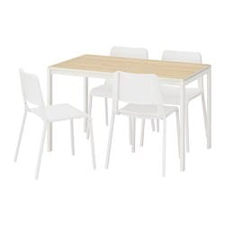 MELLTORP /  TEODORES table and 4 chairs, ash, white