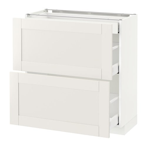 METOD Base cab with 2 fronts/3 drawers IKEA