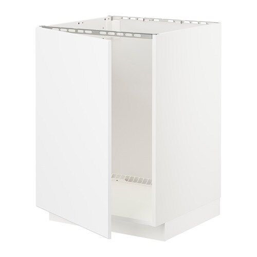 Metod Base Cabinet For Sink White Kungsbacka Matt White Ikea
