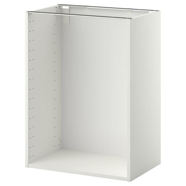 METOD Base cabinet frame, white, 60x37x80 cm