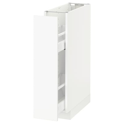 METOD Base cabinet/pull-out int fittings, white/Häggeby white, 20x60x80 cm
