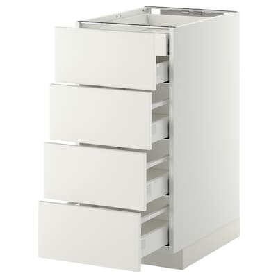 METOD Base cb 4 frnts/2 low/3 md drwrs, white Maximera/Häggeby white, 40x60x80 cm