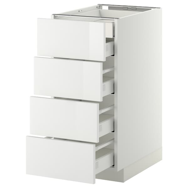 METOD Base cb 4 frnts/2 low/3 md drwrs, white Maximera/Ringhult white, 40x60x80 cm
