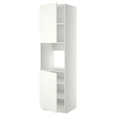 METOD High cab f oven w 2 doors/shelves, white/Häggeby white, 60x60x220 cm