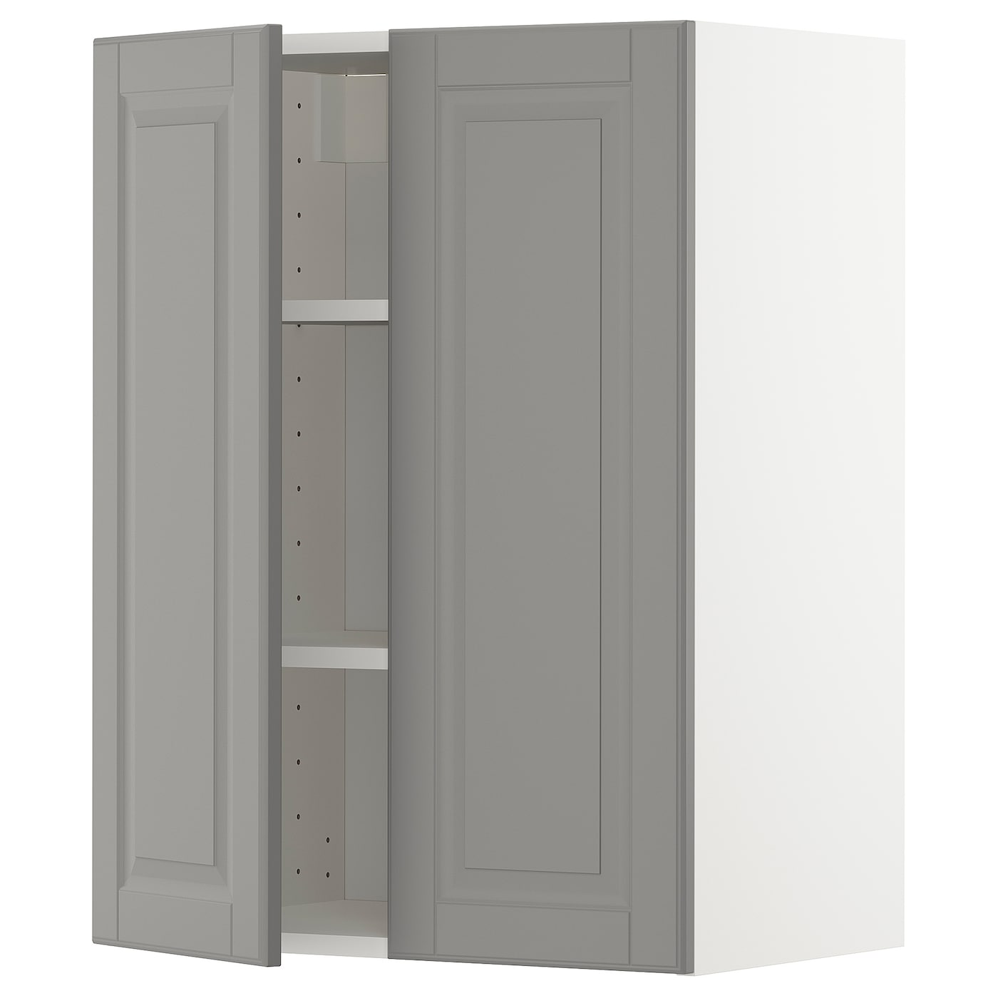 Metod Wall Cabinet With Shelves 2 Doors Veddinge White 60x37x80