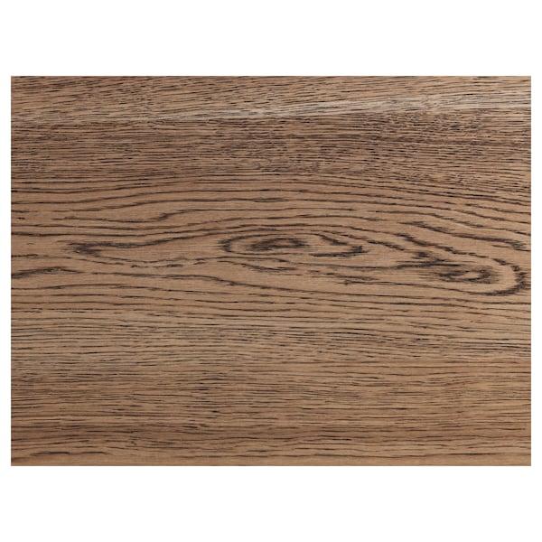 MÖRBYLÅNGA Bench, oak veneer/brown stained, 180 cm