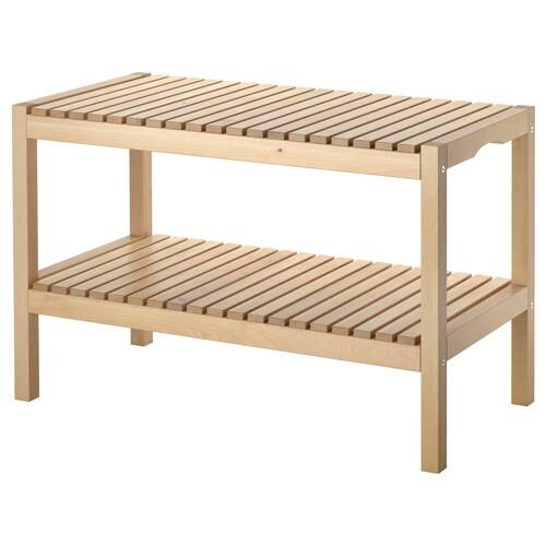 MOLGER bench birch 79 cm 37 cm 50 cm 100 kg