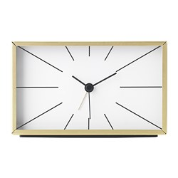 MYGGJAGARE alarm clock, brass-colour