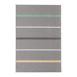 NÅRUP rug, low pile, grey, multicolour