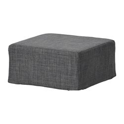 NILS stool cover, Skiftebo dark grey