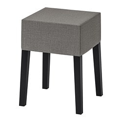 NILS stool, black, Skiftebo dark grey