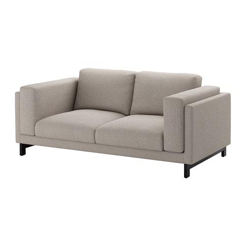 Nockeby two seat sofa ten light grey wood ikea for Sofa nockeby