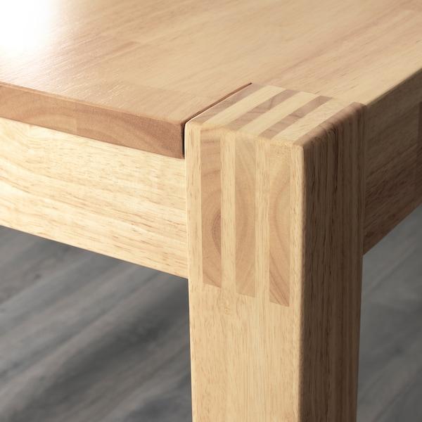NORDBY Bench, rubberwood, 125 cm