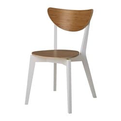 NORDMYRA chair, bamboo, white