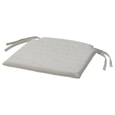 NORDVIKEN Chair pad, beige, 44/40x43x4 cm