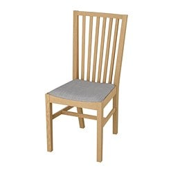 NORRNÄS chair, oak, Isunda grey