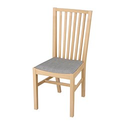 NORRNÄS chair, birch, Isunda grey