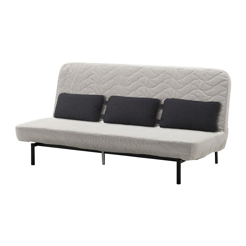 nyhamn sofa-bed with triple cushion - with foam mattress  borred light beige