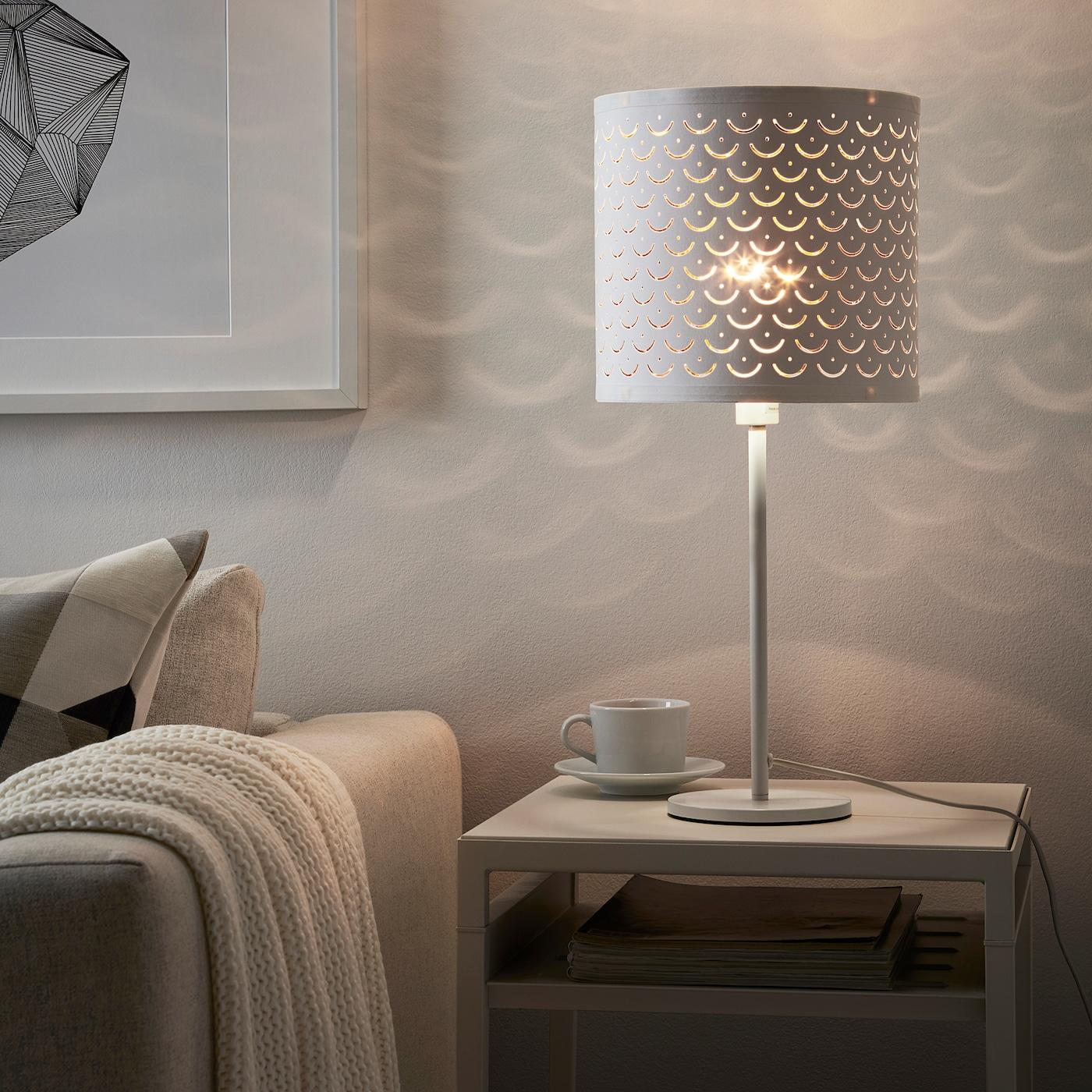 Ikea NYMÖ Pendant Or Floor Lamp shade White//brass-colour NYMO 24 cm
