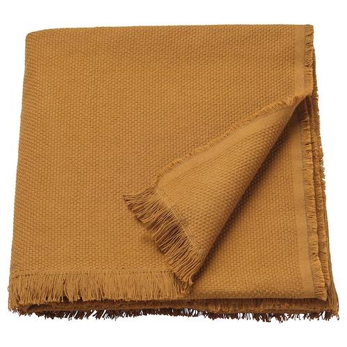ODDRUN throw dark golden-brown 170 cm 130 cm