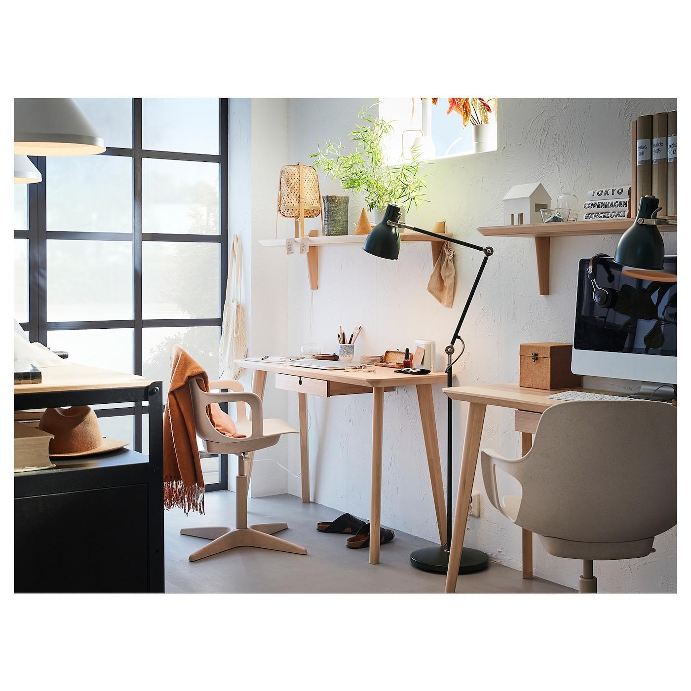 Odger Swivel Chair White Beige Ikea
